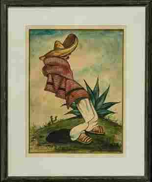 DIEGO RIVERA Watercolor