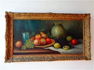 "Original Still Life Oil on Canvas signed ""WEBER"""