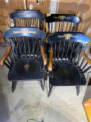Lot of 5 vintage Tufts University chairs