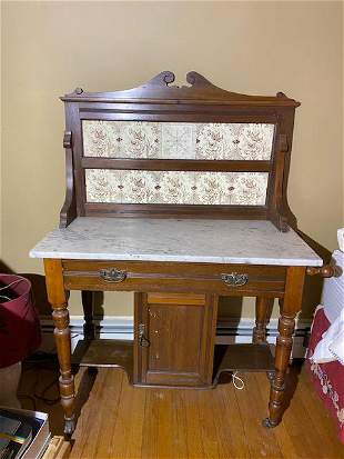 Antique wash stand maple