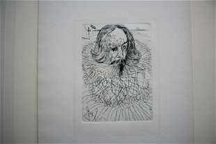Salvador Dali etching Cervantes'