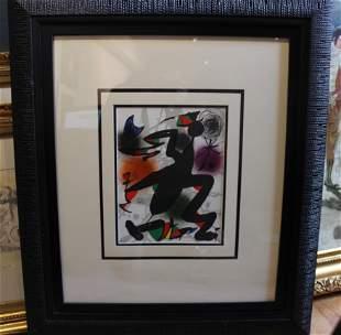 Joan Miró abstract lithograph