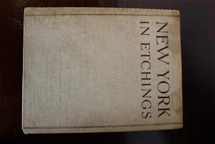 New York in etchings First Ed. Book