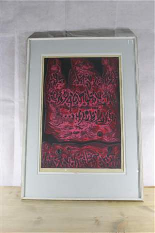 Castel Painting - red, black, pink