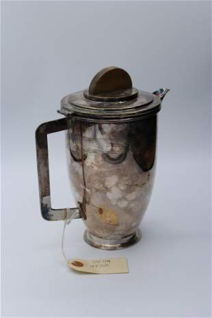 Modern Metal Pitcher with wooden lid top