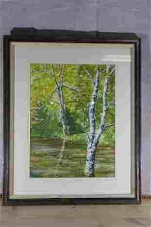 Paul Perkins signed Watercolor