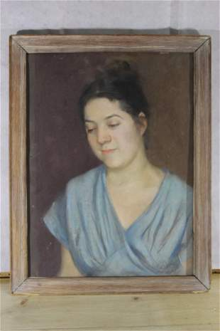 A. Newmark pastel of woman