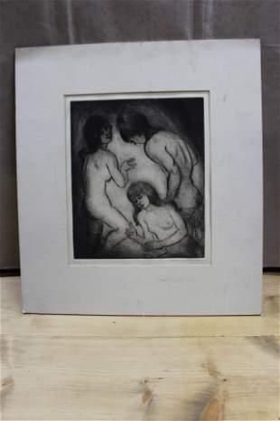 a. neumark drawing of women