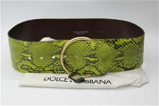 Dolce & Gabana vintage leather belt