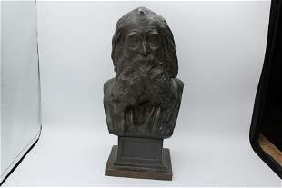 Walt Whitman handmade Roman Bronze bust