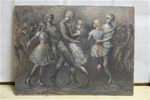 Oil on Canvas - Teenagers at Dance
