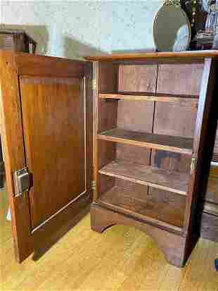 Antique Floral Wood Carved Cabinet