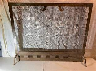 Chained fireplace cover