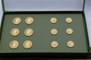 Rare, Vintage Box of Christofle Buttons