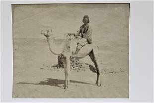 Jean Pascal Sebah Photograph - Man on Camel