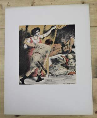 1908 German Lovis Corinth Signed Lithograph