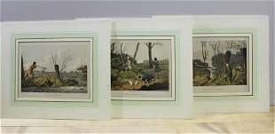 Lot of 3 - Henry Thomas Alken Lithographs
