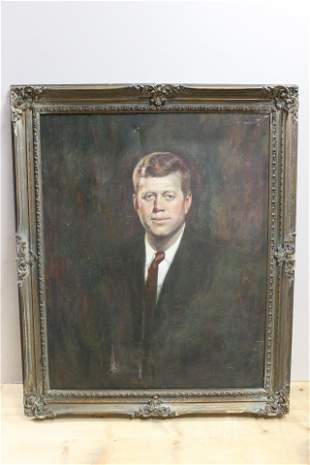 William Walton Painting of John F. Kennedy