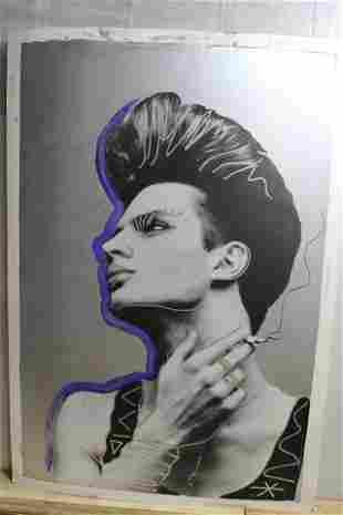 Vintage Tony Viramontes 'Ben Smoking' Print