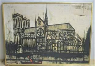 Bernard Buffet Notre Dame Painting On Canvas
