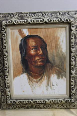 Molly Haines Kohlschreiber Native American Painting
