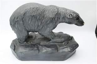Clement Dube Polar Bear Soapstone Carving
