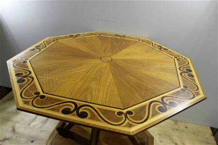 An early octagonal centre table by David Linley Ltd.