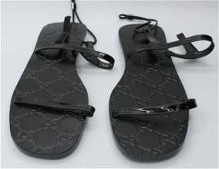 Gucci Black Sandals Size 9