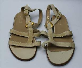 Gucci Cream Color leather sandals