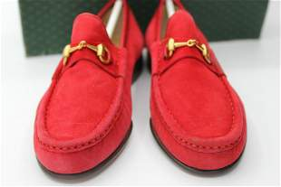 Gucci red loafers SIZE 4.5