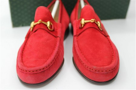 Vintage GUCCI Women's Red Loafers