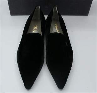 Vintage Prada Velvet & Leather Women's Shoes