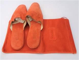 Vintage GUCCI Orange Slippers