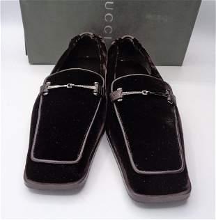 Mens Gucci Velvet Shoes