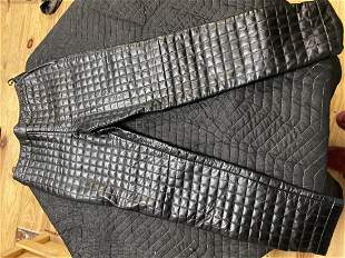 Vintage CHANEL Lambskin & Silk pants