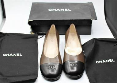 Vintage Chanel Leather Flats