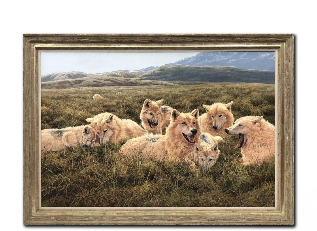 "John Seerey-Lester's ""Tundra Family Arctic Wolves"""