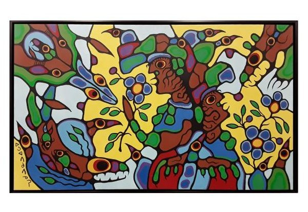 """Norval Morrisseau's """"Remembering The Place Of Summer"""