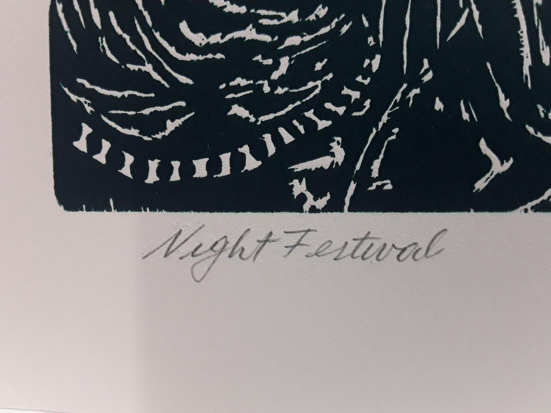 """Manuel Izquierdo's """"Night Festival, Green"""" Limited - 4"""
