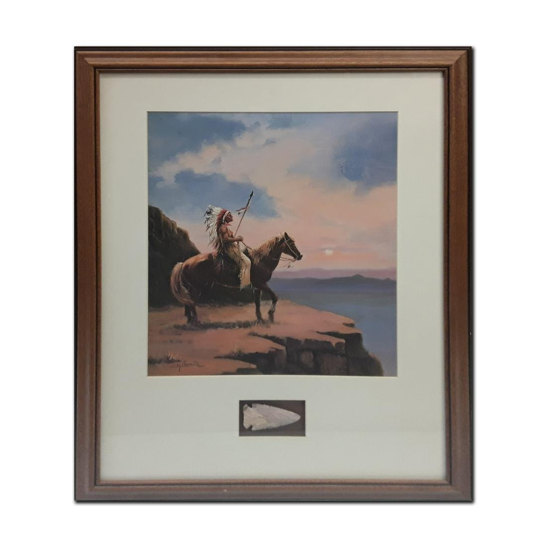 Native American themed framed print with an