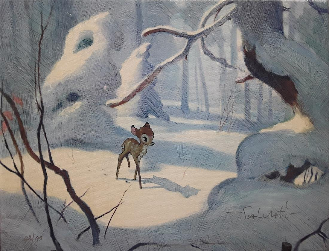 "Jim Salvati's ""Bambi"" limited edition canvas"