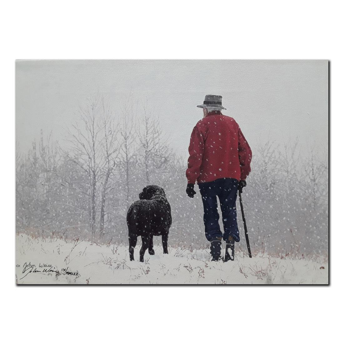 """John Weiss's """"Old Friends"""" limited edition canvas"""