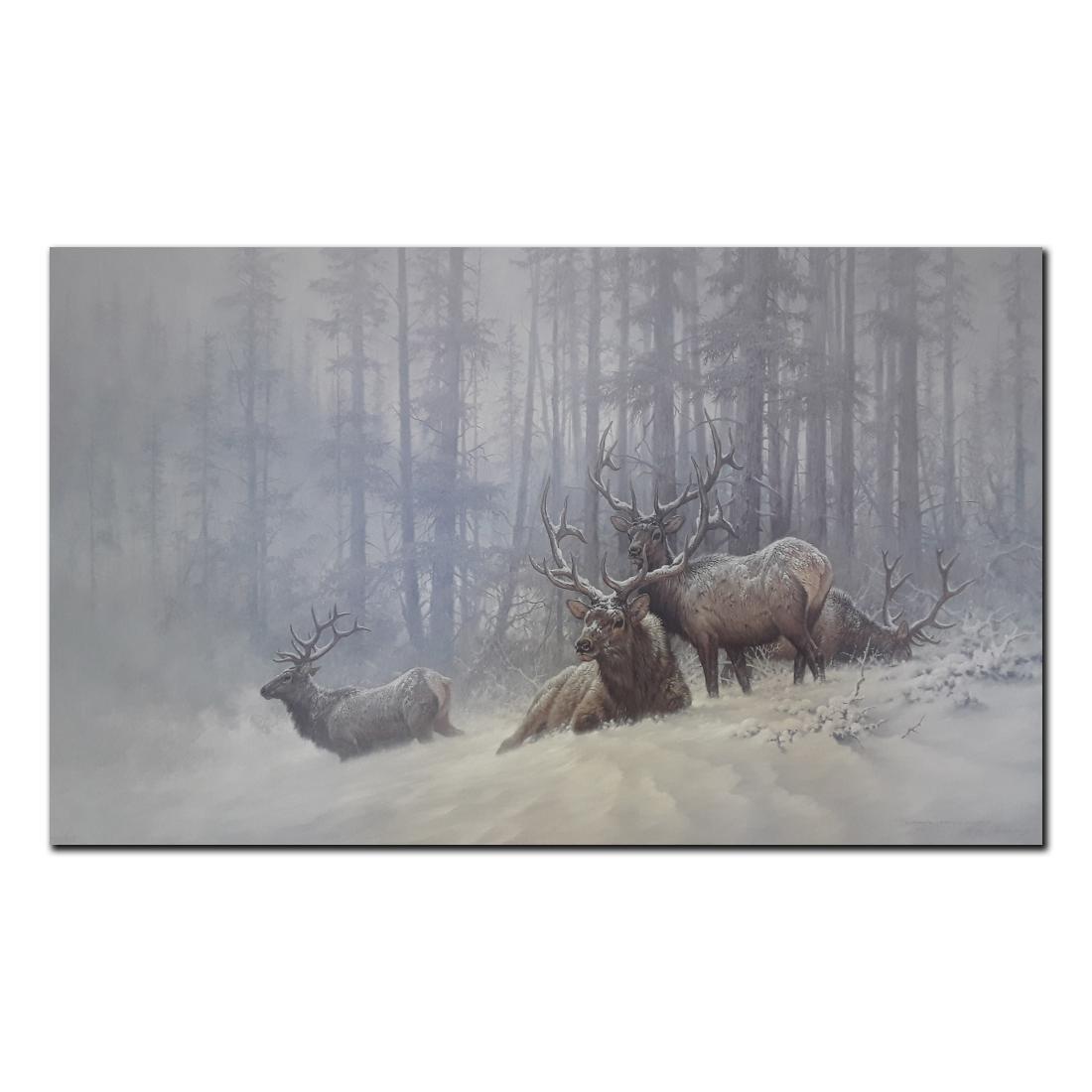 """Larry Fanning's """"Mountain Majesty- Bull Elk"""" limited"""