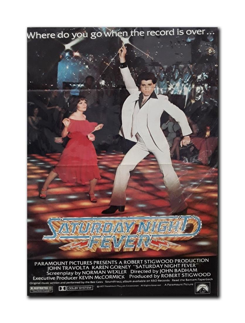 "Original ""Saturday Night Fever"" Movie Poster"