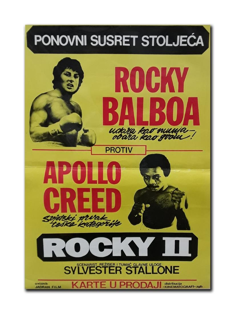"Original ""Rocky II"" Movie Poster"