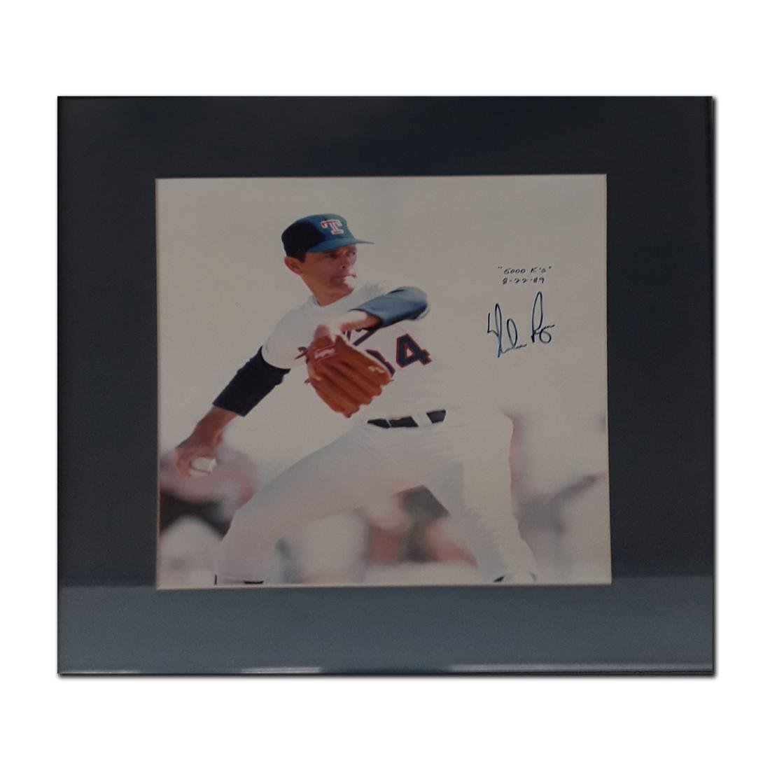 Signed and Framed Photo of Nolan Ryan