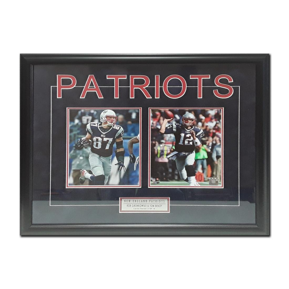 Rob Gronkowski and Tom Brady Limited Edition Framed