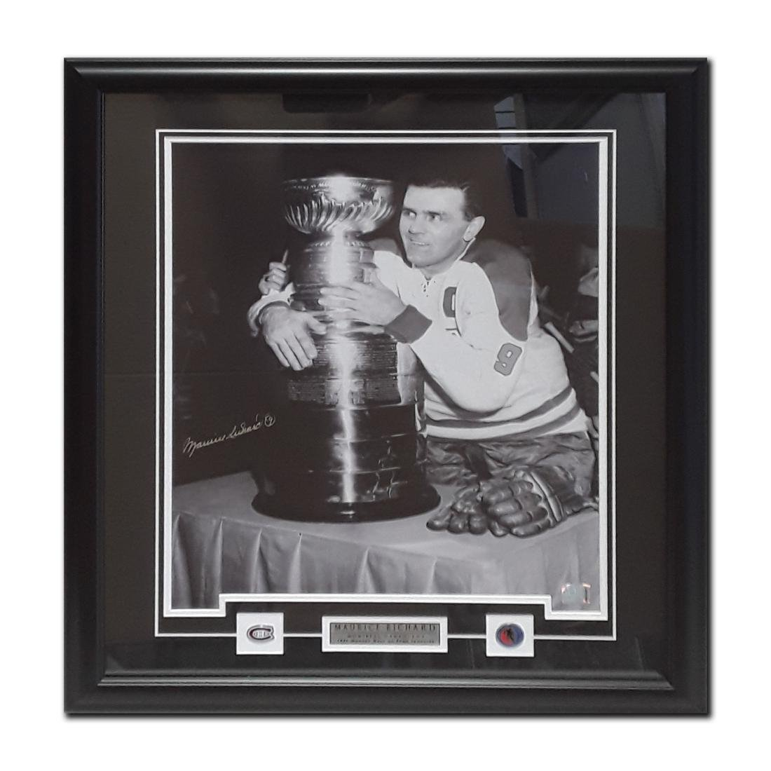 Framed and signed picture of Maurice Richard