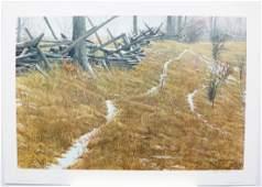"""Robert Bateman's """"Pasture Trails - Red Fox"""" Limited"""