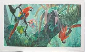 "Robert Bateman's ""Tropical Canopy - Scarlet Macaw"""